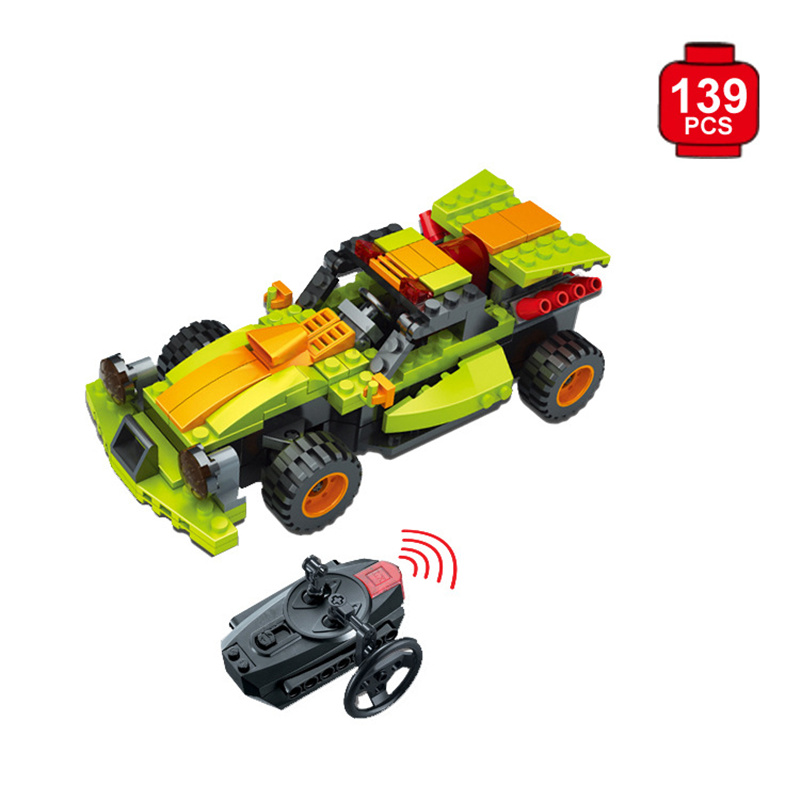 Radio-controlled cars Toy Building Blocks Assembled RC Car Children Toys Oyuncak 2 in 1 rc car compatible legoinglys radio technical vehicle green suv control blocks assembled blocks children toys gift