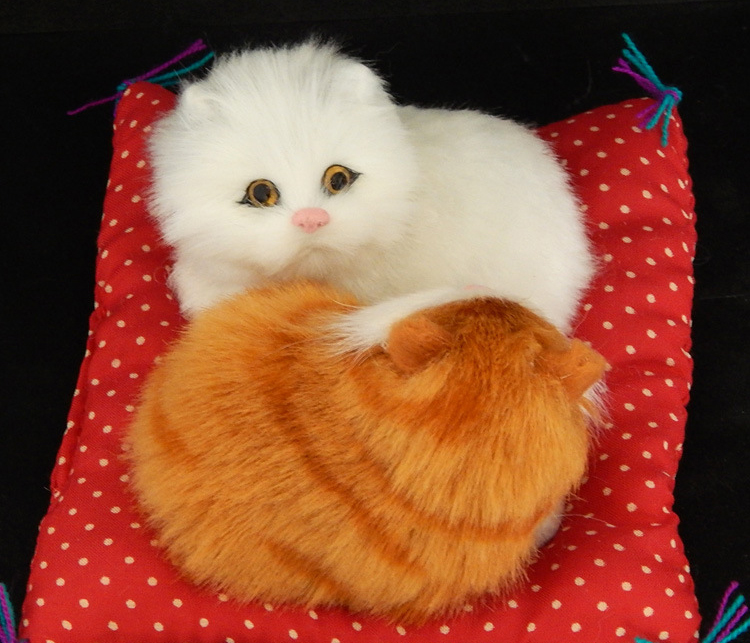 Real hair Electronic Pets Cats Dolls Simulation animal cat ...