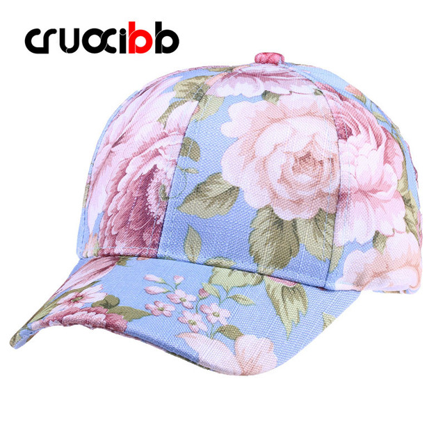 CRUOXIBB Baseball Cap Women with Flower 2017 Brand Snapback Caps for Girls Casual Bone New Arrivals High Quality Fashion 3colors