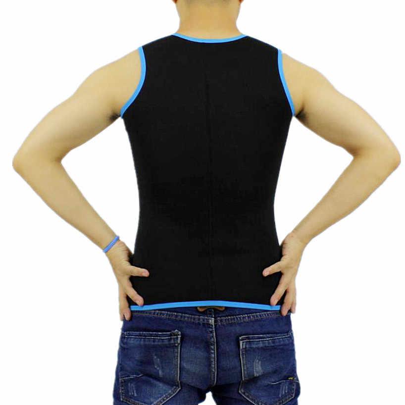 Новая мужская мода, тонкий топ на бретелях, футболка, утягивающая для похудения, рубашка, мужской корректирующий жилет для похудения