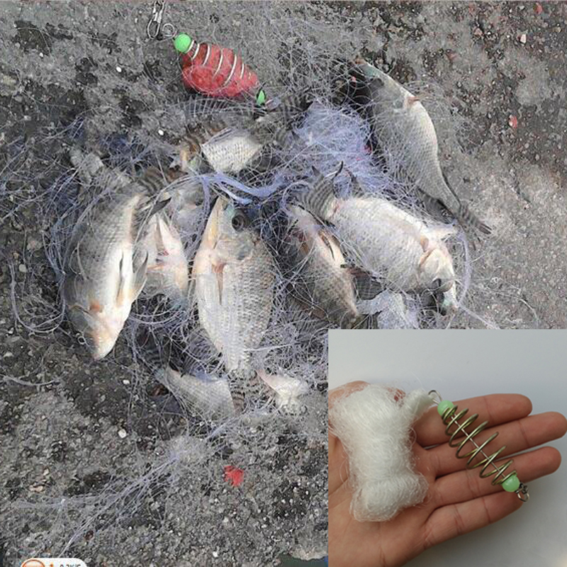 Wholesale pesca Fishing Net Trap Design Copper Shoal Winter Fishing Net Luminous Beads Swivel Fishing Tackle Fishnet