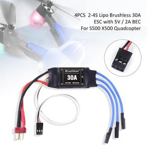 Image 5 - 4PCS 30A ESC 2 4S Lipo Bürstenlosen 30A ESC Mit 5 V/2A BEC Für S500 x500 Quadcopter Sicher poweron funktion Programm Einstellung Artikel
