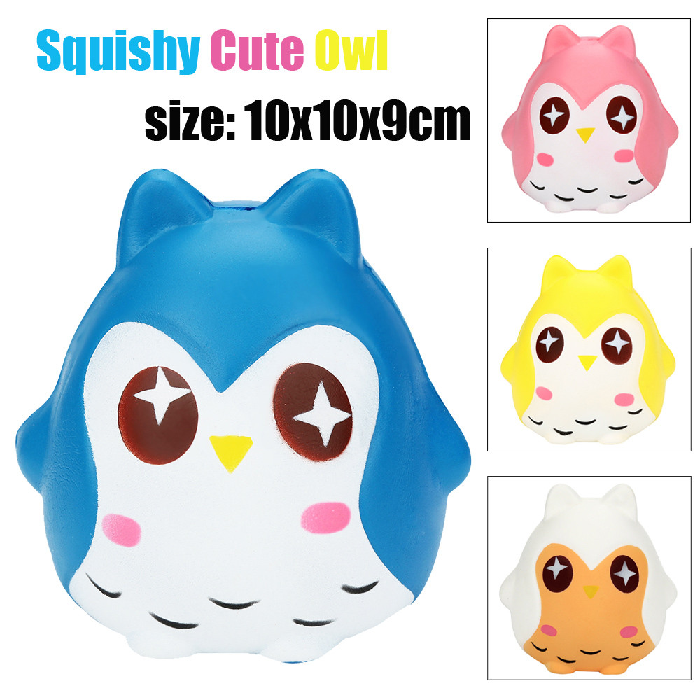 2018 Hot Sale Squeeze Squeeze Jumbo Stress Reliever Soft Owl Doll Scented Slow Rising Toys Gifts interesting toys Drop Shopping