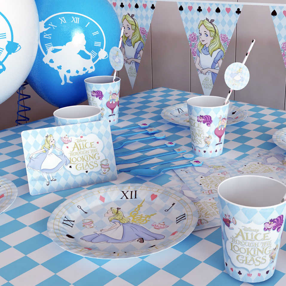Alice Birthday Party Supplies Alice In Wonderland Tablecloth