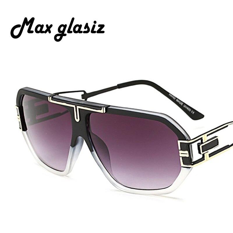 Men Brand Vintage Style Sunglasses Fashion Oversize Gradient Lens Square Frame Women Sun Glasses  Gafas  2017