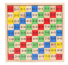 New Wooden Toy Multiplication table wooden children educational toys early childhood math board operation Free Shipping