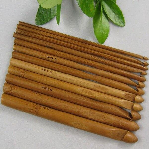 Amichevole Nuovo 12 Pcs Maglione Di Lavoro A Maglia Circolare Manico Di Bambù Dei Ganci Di Crochet Liscio Tessuto Craft Ago Prezzo Moderato