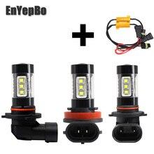 цена на 2Pcs H11 H8 LED Fog Light Bulb H9 6000K 3200LM Car Driving Daytime Running Light Auto DRL Lamp Bright White 12V 24V