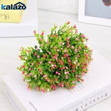 5pcs Artificial Flower Milan Grass Fake Green Plants Pot Room Home Decorations Wedding Bridal Bouquet