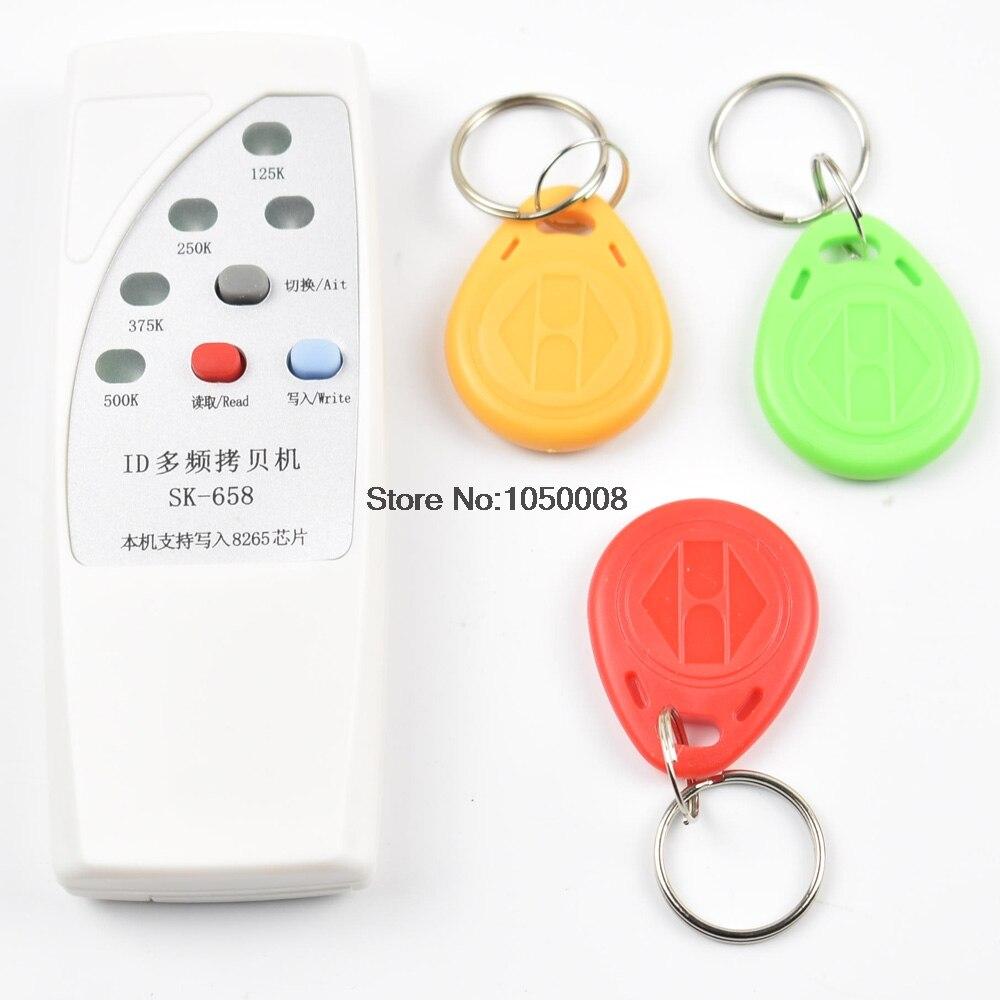 RFID Copieur Duplicateur Cloner ID EM EM4305 t5577 5200 lecteur écrivain + 3 pcs EM4305 T5577 inscriptible porte-clés