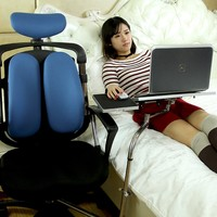 OK031S Multifunctional Full Motion Chair Clamping Laptop Desk Holder with Fan+ Square Mouse Pad +Chair Arm Clamping Mouse Pad