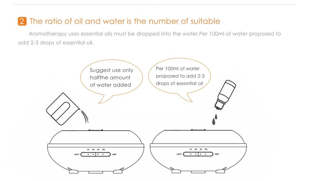 Diffuseur d'huiles essentielles KBAYBO design bois et LED, conseils d'utilisation