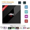Melhor Caixa de IPTV S912 H96 Pro + Amlogic Octa núcleo + Árabe Francês REINO UNIDO Suécia Itália África IPTV Europeu Abonnement 1150 + Canais Canal +