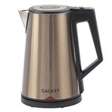 Чайник электрический Galaxy GL 0320 ЗОЛОТОЙ (мощность 2000 Вт, объем 2 л, Тройные стенки из нержавеющих сталей и пластик