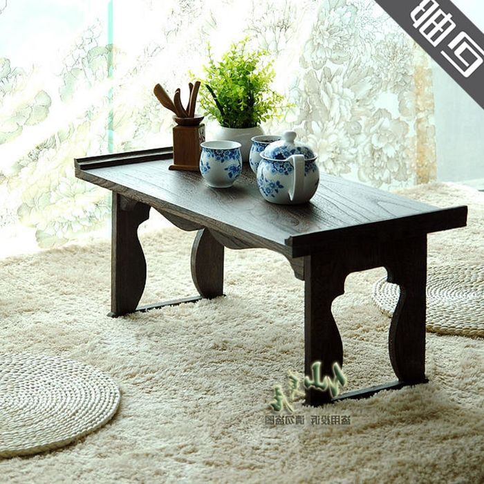 Japanese Style Tatami Folding Solid Wood Coffee Table