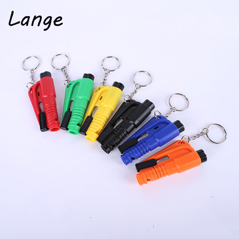 цена на Lange 1PCS Mini Safety Hammer Car Life-saving Escape Hammer Window Keychain Car Window Broken Emergency Glass Breaker A31
