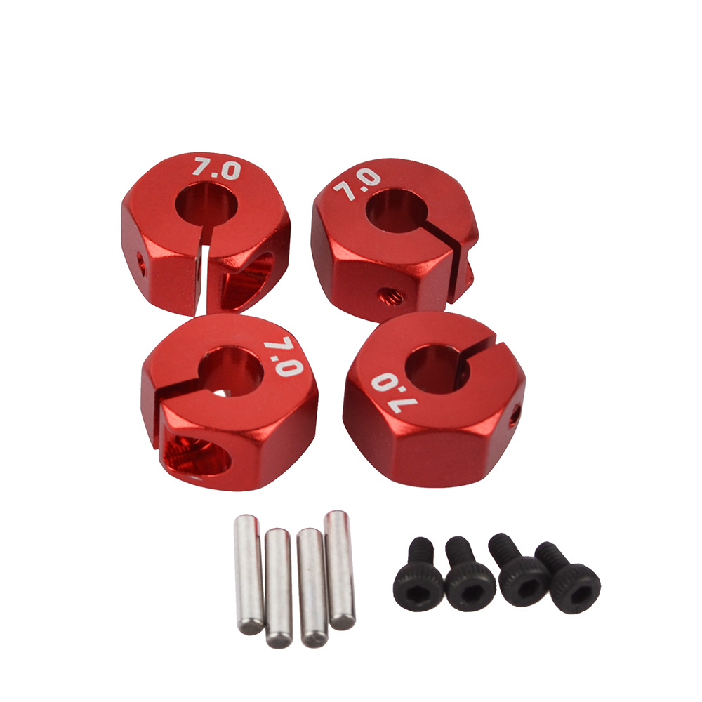 RC Aluminum 5mm/6mm/7mm Thickness Wheel Hex 12mm Drive With Pins & Amp For Screws HSP HPI Tamiya 1:10 RC Car Wheels Rim