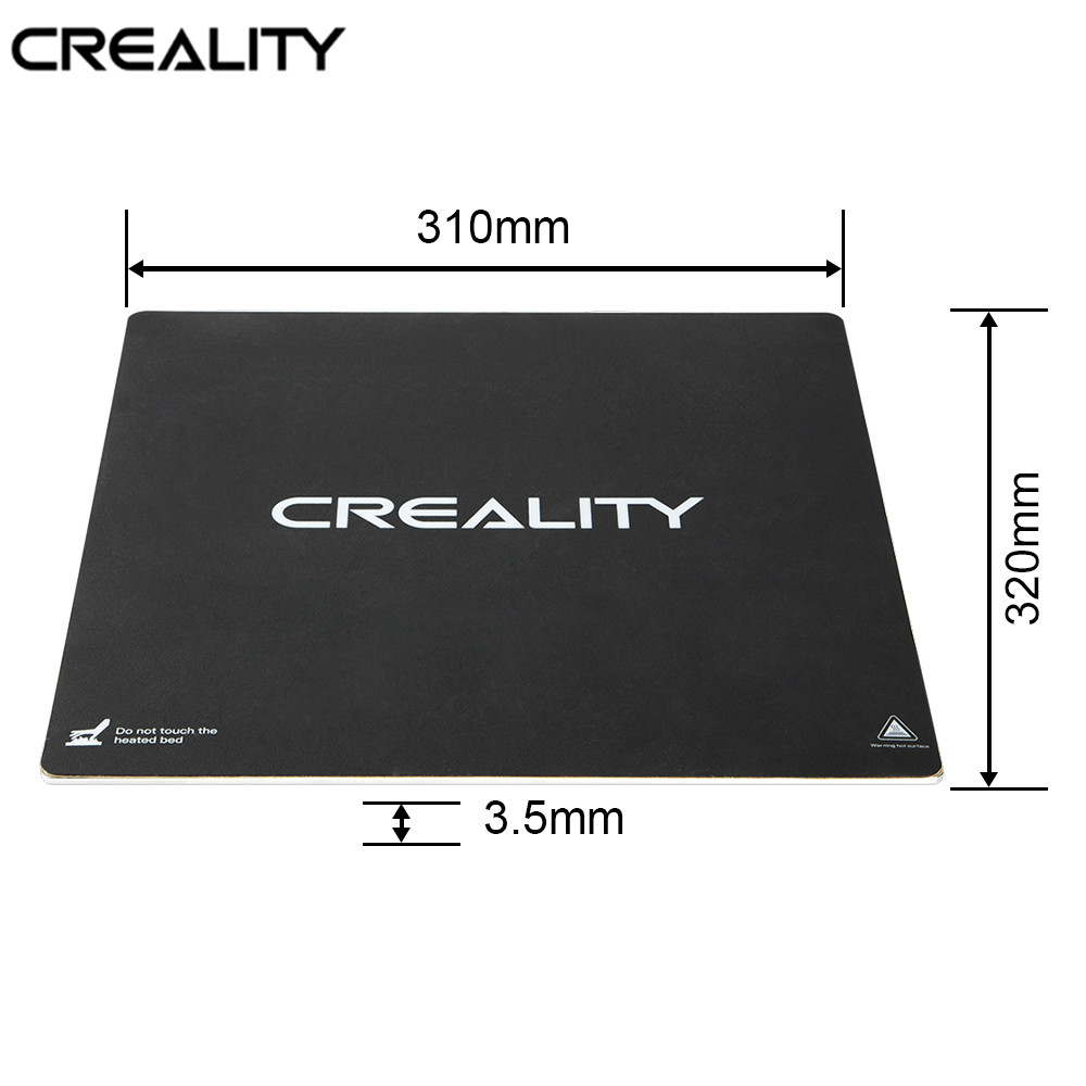 CREALITY 3D Printer CR 10S PRO CR X Original 310 320MM Heatbed Aluminum Build Plate Add