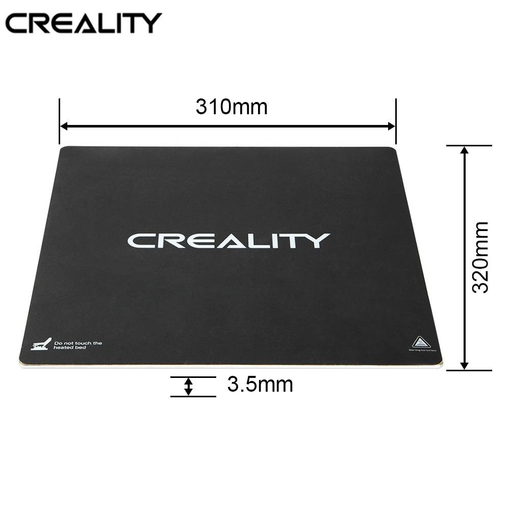 CREALITY 3D imprimante CR-10S PRO/CR-X Original 310*320 MM lit chauffant en aluminium plaque de construction ajouter autocollant pour CR-10S Pro/CR-X Hotbed