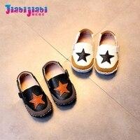 0 2T Baby Boys Girl Shoes Stars Pattern Infant Moccasins Newborn Genuine Leather Prewalker Soft Bottom