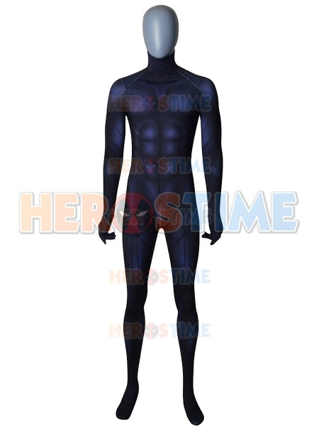 Free Shipping Black Panther Costume 2018 New Movie Superhero Black Panther Cosplay Zentai Bodysuit Customized, No Silver No Mask