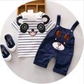 2016 Summer Panda Cartoon Baby Boys Clothing Set Childern Leisure Toddler Boys 1-4Y Clothes Sets Kids 2pcs Kids Sport Suit Set