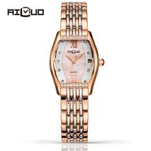 Люксовый бренд Мода Повседневная Кварцевые Часы Женщины Алмазный Нержавеющей Стали Сапфир Наручные Часы Календарь Водонепроницаемый Reloj Mujer