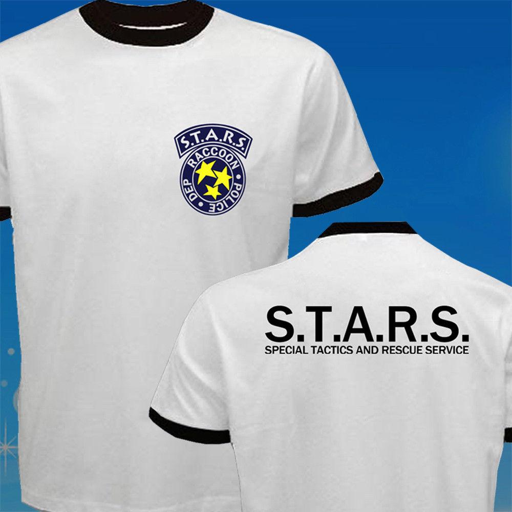 STARS Resident Evil Paraply Corp Biohazard Polis T-shirt Mäns 2017 - Herrkläder - Foto 2