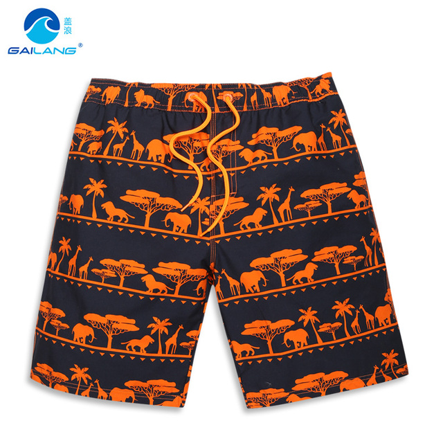 Крышка волна Летний пляж брюки мужчины теряют большие ярдов животных отпечатано отпуск рафтинга хлопок дышащая досуг шорты