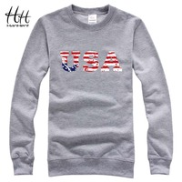 HanHent USA American Flag Sweatshirts Men Casual Fitness Hoodies Fashion Print Brand Jersey Casual Hip Hop
