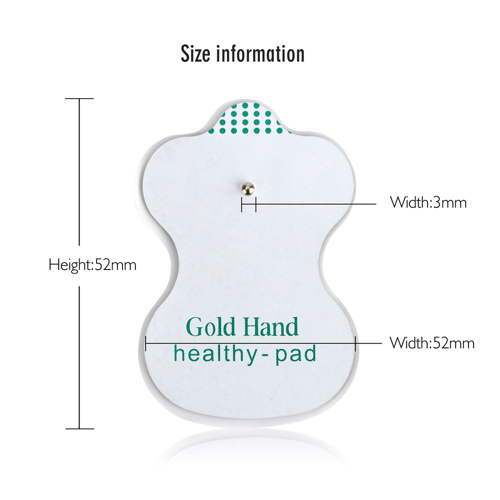 Electrode antistress tens acupuncture pad body massage digital electrode antistress tens acupuncture pad body massage digital therapy machine ems pads patches vibrator body foot care in cotton swabs from beauty health pooptronica