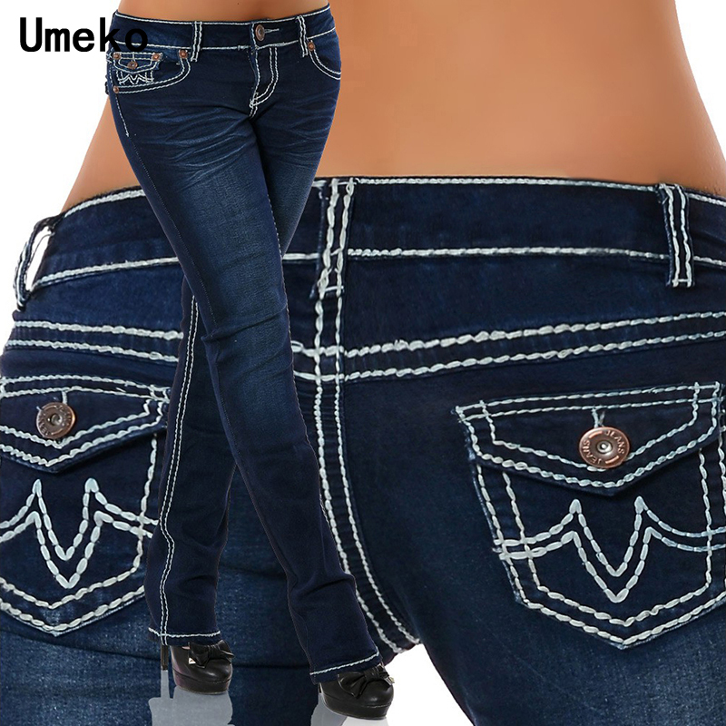 New Fashion 2019 Plus Size Jeans Woman Skinny Pockets Denim Ladies Pencil High Waist Blue Jeans