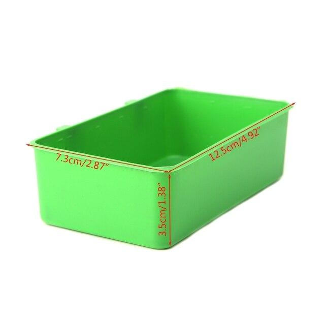 OOTDTY Food Water Plastic Bowl Cups 3