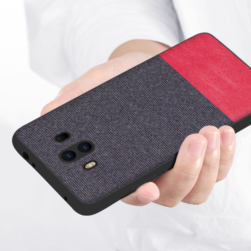 CoolDeal for Huawei Mate 9 case Mate9 Pro back cover soft silicone edge shockproof fabric case for Huawei Mate 9 Pro capa in Fitted Cases from Cellphones Telecommunications