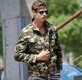 winter style men Outerwear & Coats cotton zipper casual camouflage jacket famous brand khaki army green coat jacket for men