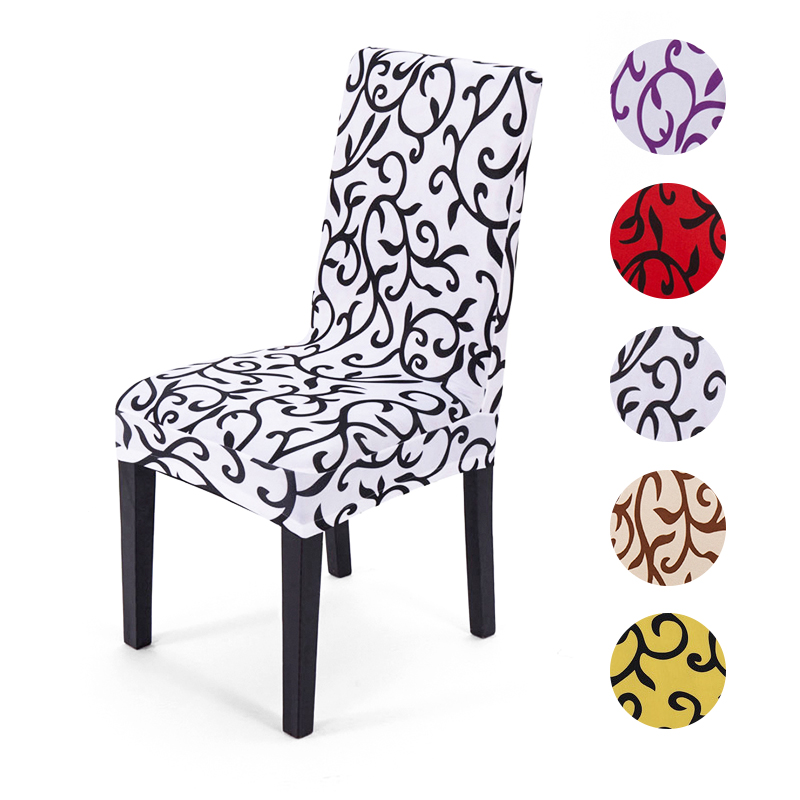 Cheap Removable Spandex Dining Chair Cover Seat Slipcover Restaurant Home Party Wedding Decoration Chair Covers Stretch