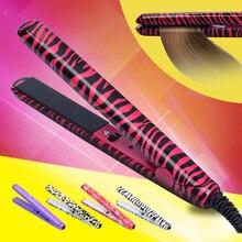 Mini Hair straightener Iron Pink Ceramic Straightening Corrugate Curling Iron Styling Tools Hair Curler