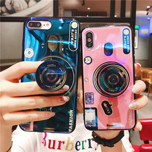 Silicone cute camera holder case for iPhone 6 7 8 6S Plus phone X XS Max XR ultra-thin soft silicone