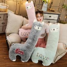 цена на Lovely 60/75/90cm Cartoon Alpaca Plush Doll Toy Fabric Sheep Soft Stuffed Animal Plush  Birthday Gift for Baby Kid Children