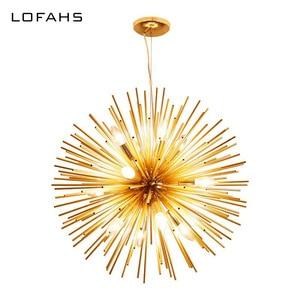 Image 1 - LOFAHS מודרני שגשוג תליון נברשת זהב אלומיניום צינור נברשת תאורה לסלון עסקים אירוע