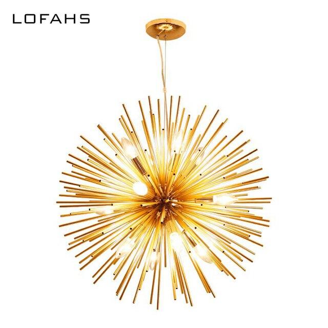 LOFAHS מודרני שגשוג תליון נברשת זהב אלומיניום צינור נברשת תאורה לסלון עסקים אירוע