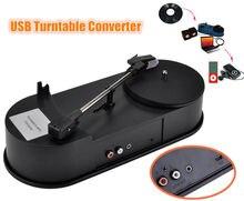 2017 New Music Hall Mini USB Turntable Converter Phonograph LP Vinyl Record Player to MP3/WAV/CD/PC