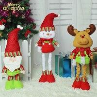 Hot Sale Christmas Stretchable Santa Claus Snowman Reindeer Telescopic Doll Decoration Xmas Tree Hanging Ornaments Pendant