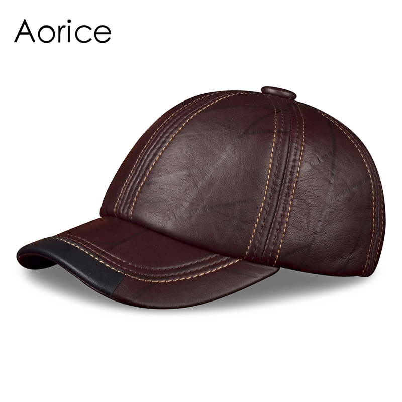 HL099  genuine leather men baseball cap hat CBD high quality  men's real leather adult solid adjustable hats caps hl171 f spring genuine leather baseball sport cap hat men s winter warm brand new cow skin leather newsboy caps hats 5 colors