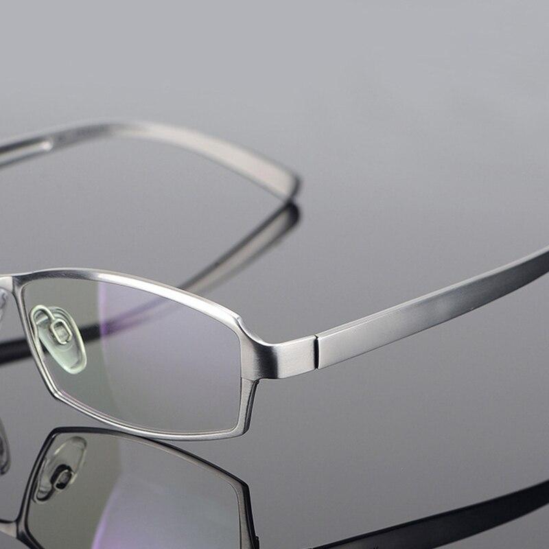 Marque Designer titane lunettes cadre hommes myopie Prescription pleine jante lunettes montures pour hommes affaires lunettes lunettes