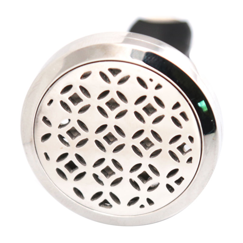 New Pattern 30mm Diffuser 316 Stainless Steel Car Aroma Locket Essential Oil Car Diffuser Locket Free 10Pcs Felt Pads