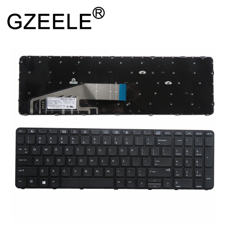 GZEELE New US Laptop Keyboard For HP ProBook 450 G3 455 G3 470 G3 NO BACKLIT With Frame US