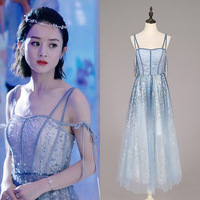 New 2019 annual meeting dress inTime Summer with sexy nail beads sequined banquet dress