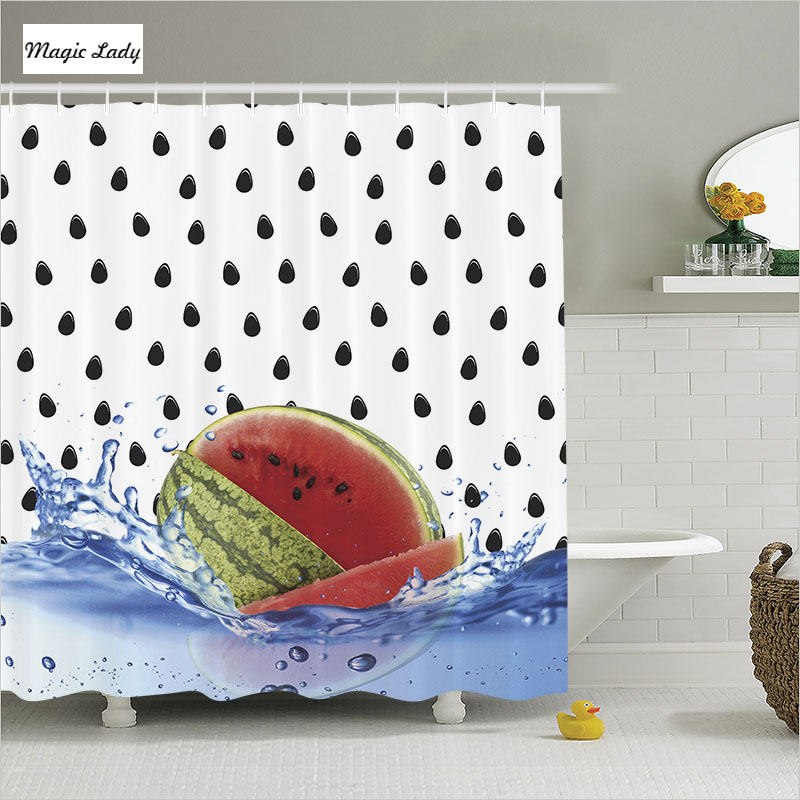 Home Decorators Collection Coupon Free Shipping: Shower Curtain Decor Bathroom Accessories Watermelon Water