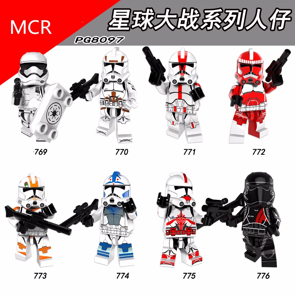 HOT Star Wars movie The Clone Wars Building blocks single mini figure doll Compatible With legoing toys for children birthday single the horror theme movie the walking dead mask hunter black friday jason scream killer building blocks toys for children